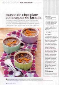 Revista Boa Forma - Musse de Chocolate com Raspas de Laranja | Chef Renata Rea